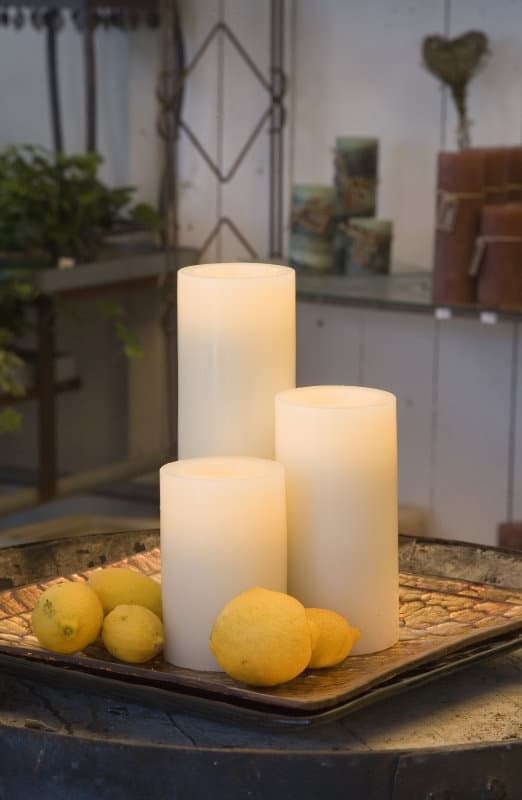 Battery operated Wax Candle 3 x 9 SC853